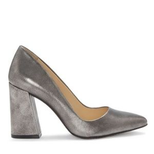 Vince Camuto Talise Block Heels in Pewter